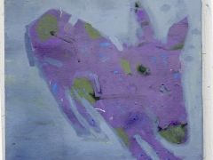 After a while, perhaps in april, the paintings became more and more ended with solitudes. Here is The Horse