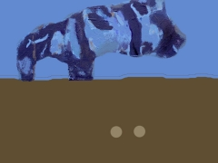 Exploring new worlds no 1 ( figure from painting The Goose and the Pig )