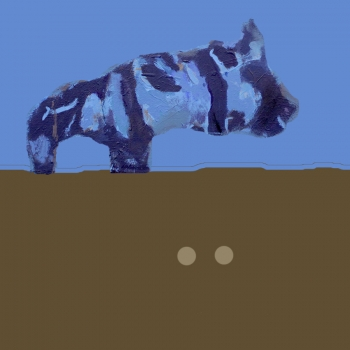 """Exploring new worlds #1 - figure from the painting """"The Goose and the Pig"""""""