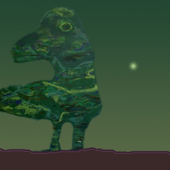 """Exploring new worlds #8 ( figure from the painting """"Mother and son II"""" ). The mother"""