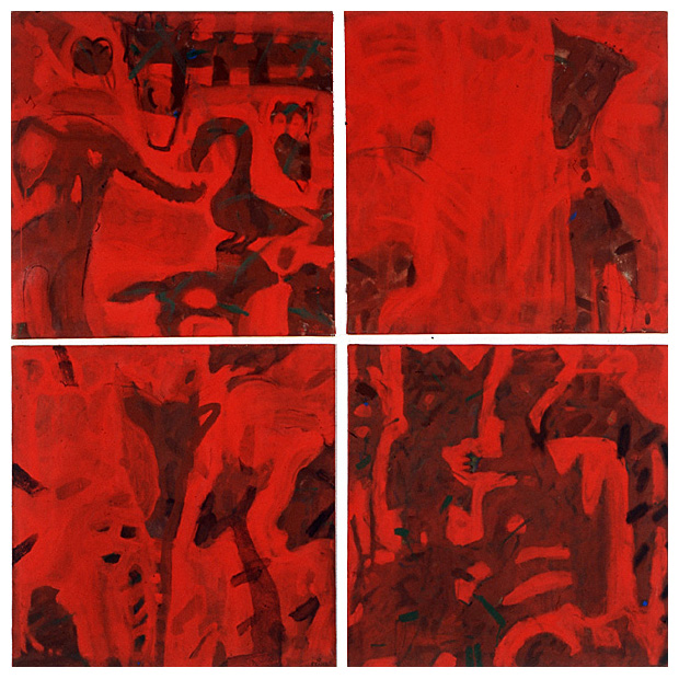 Under Bodens kanoner, 4 st målningar.