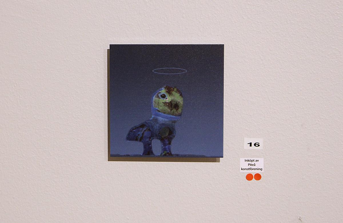 """Exploring new worlds #3 - figur från målningen """"Tillsammans"""""""