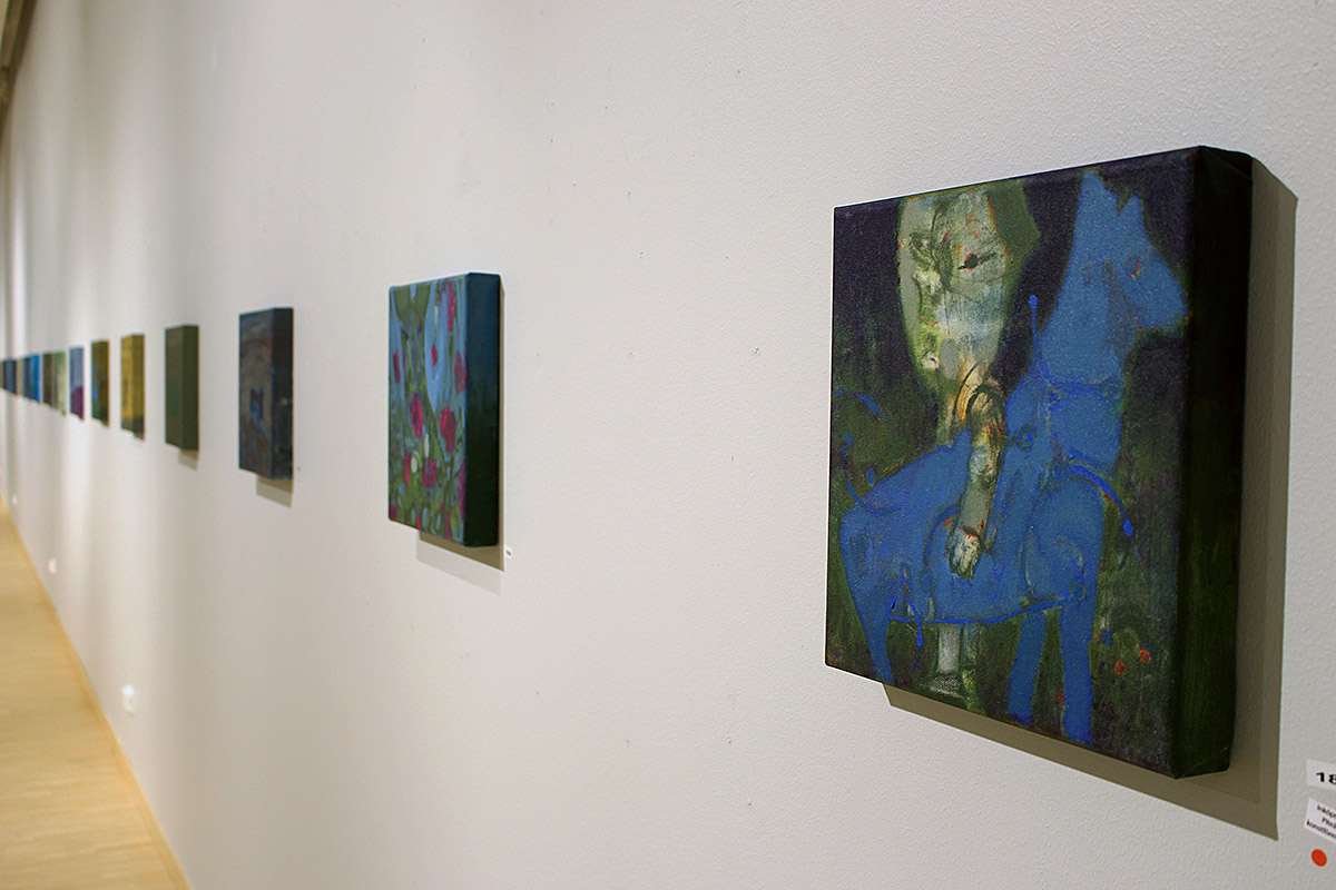 21 st ur serien Small paintings i Piteå konsthall
